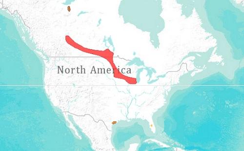 Whooping crane range map