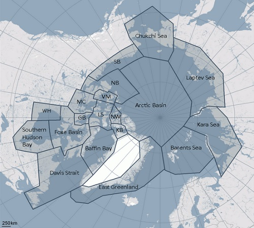 Polar bear population map