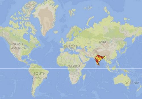 Sloth Bear Distribution Map