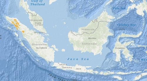 Sumatran Orangutan distribution map
